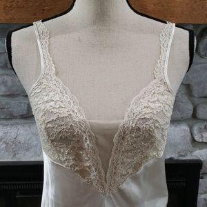 Vintage Victoria's Secret silky lace nightgown S